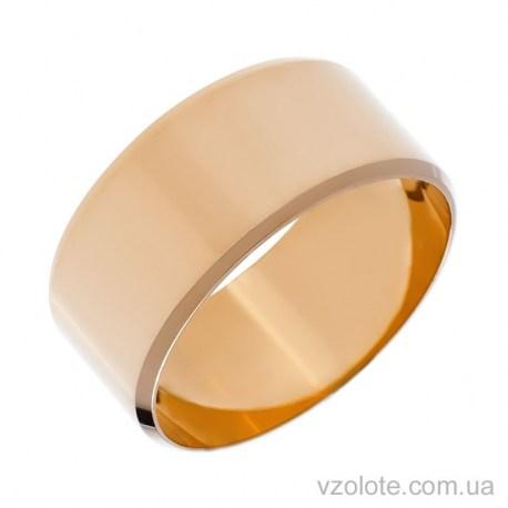 Золотое обручальное кольцо классическое Европейское (арт. 1009)