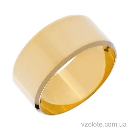 Обручальное кольцо из лимонного золота классическое Европейское (арт. 1009л)
