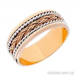Золотое обручальное кольцо комбинированное (арт. 1042)