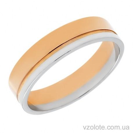 Золотое обручальное кольцо комбинированное (арт. 1077-1)
