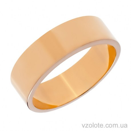 Золотое обручальное кольцо классическое Американка (арт. 1078-1)
