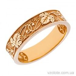 Золотое обручальное кольцо «Виноградная лоза» (арт. 1611-8)