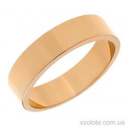 Золотое обручальное кольцо классическое Американка (арт. 10105-1)