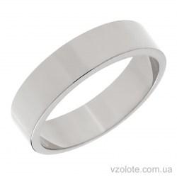 Обручальное кольцо из белого золота классическое Американка (арт. 10105-1б)