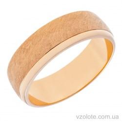Золотое обручальное матовое кольцо Европейка (арт. 10134-1)