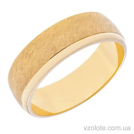 Обручальное матовое кольцо из лимонного золота Европейка (арт. 10133-1л)