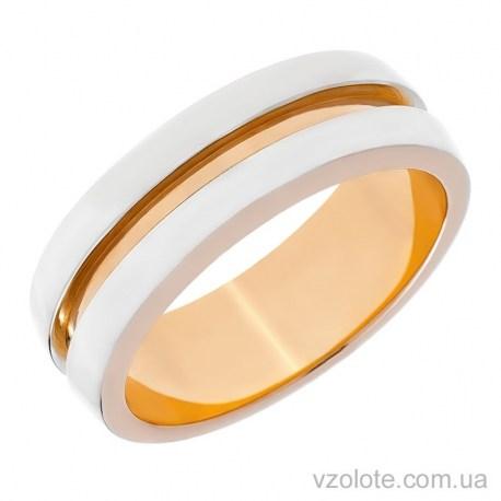 Золотое обручальное кольцо комбинированное (арт. 10147)