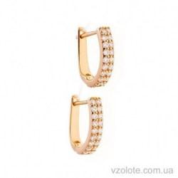 Золотые серьги фианитами Дориан (арт. 2101743101)