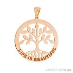 Золотой подвес Дерево жизни (арт. 3005890101)