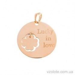 Золотая подвеска Lucky in love (арт. 3005892101)
