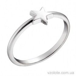 Кольцо из белого золота Star (арт. 1002746102)