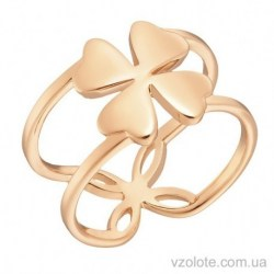 Золотое кольцо Клевер (арт. 1002816101)
