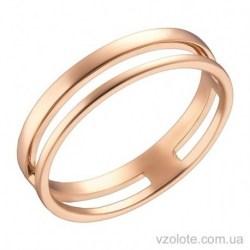 Золотое двойное кольцо без камней (арт. 1002848101)