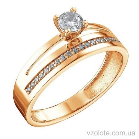Золотое кольцо с фианитами Очарование (арт. 1105269101)