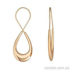 Золотые серьги Восьмерки (арт. 2004434101)