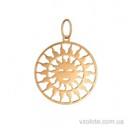 Золотой кулон Солнце (арт. 3004662101)