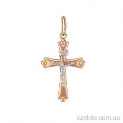 Золотой крестик с распятием (арт. 3005136112)