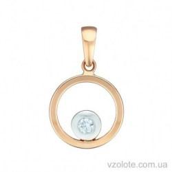 Золотой комбинированный кулон Шарлин (арт. 3104655112)