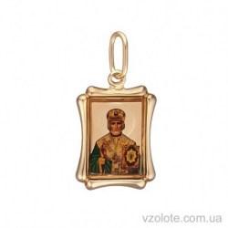 Золотая ладанка с эмалью Николай (арт. 3104854101)