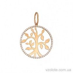 Золотой кулон с фианитами Семейное дерево (арт. 3105567101)