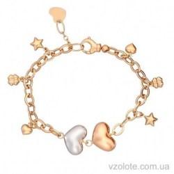 Золотой браслет с подвесками (арт. 4203280112)