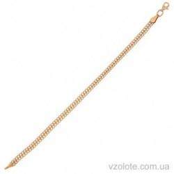 Золотой браслет Двойной панцирный (арт. 4204168101)