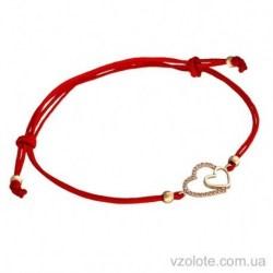 Синтетический браслет с золотым сердечком (арт. 4213044101)