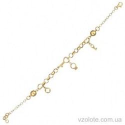Золотой браслет из лимонного золота Прелесть (арт. 4213943103)