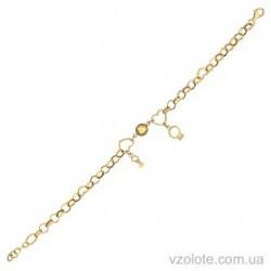 Золотой браслет из лимонного золота Счастье (арт. 4214116103)