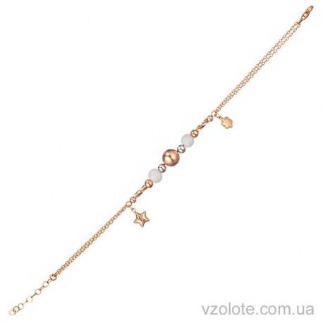 Золотой браслет с керамическими вставками (арт. 4214620112)