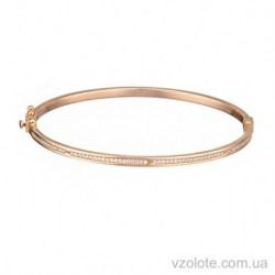 Золотой жесткий браслет с фианитами Мечта (арт. 4215416101)