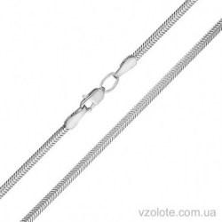 Плоская цепочка из белого золота Снейк (арт. 5084071102)