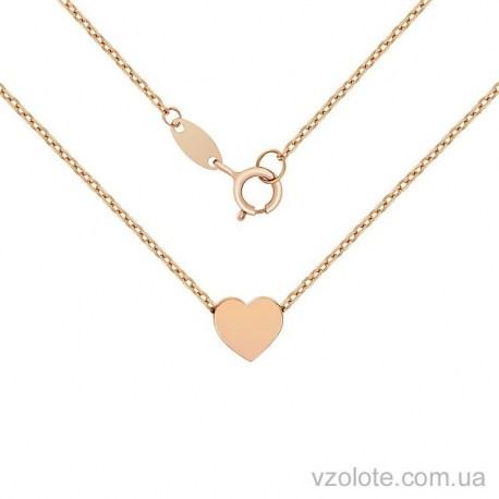 Золотое колье Сердце (арт. 7002559101)
