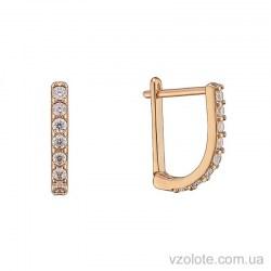 Золотые серьги-дорожки с фианитами (арт. 2105724101)
