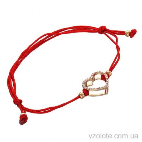 Браслет красная нить с золотым сердцем (арт. 4213679101)