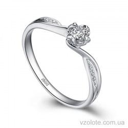 Кольцо для помолвки из белого золота с бриллиантами (арт. ERDH73)