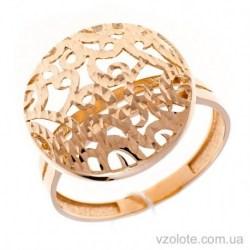 Золотое кольцо с алмазной гранью Розетта (арт. 1091527101)
