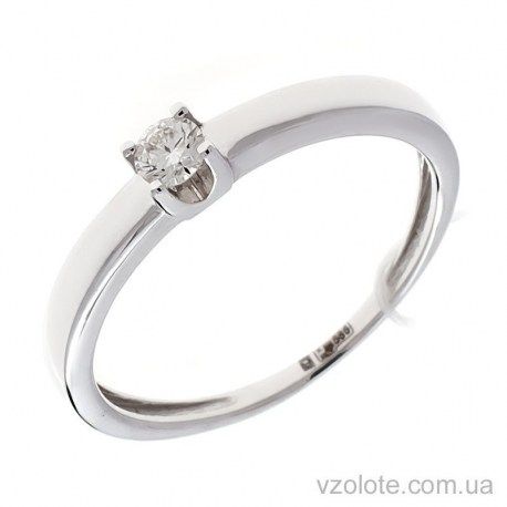 Кольцо из белого золота с бриллиантом Грань (арт. 1104997202)
