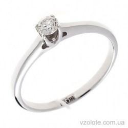Помолвочное кольцо из белого золота с бриллианом (арт. 1105972202)