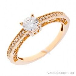 Золотое кольцо с фианитами Молекула (арт. 1106171101)