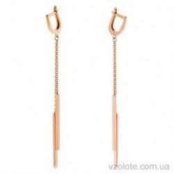 Золотые серьги с подвесками Спичка (арт. 2005974101)