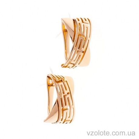 Золотые серьги без камней Калипсо (арт. 2091515101)