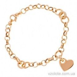 Золотой браслет с подвеской Любовь (арт. 4216301101)