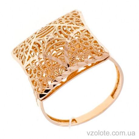 Золотое кольцо с алмазной гранью Власта (арт. 1091529101)