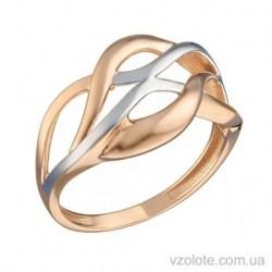 Золотое комбинированное кольцо Роза (арт. 1005982101)