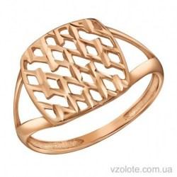 Золотое кольцо с алмазной гранью Мальва (арт. 1091517101)