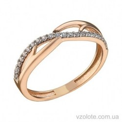 Золотое кольцо с фианитами Юнона (арт. 1106073101)