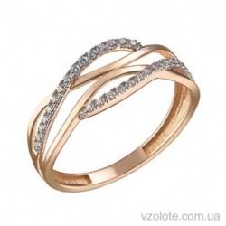 Золотое кольцо с фианитами Ана (арт. 1106074101)