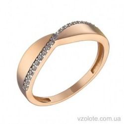 Золотое кольцо с фианитами Лора (арт. 1106075101)