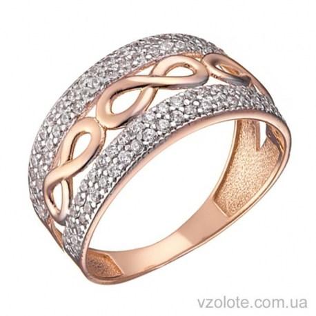Золотое кольцо с фианитами Хиллари (арт. 1191452101)